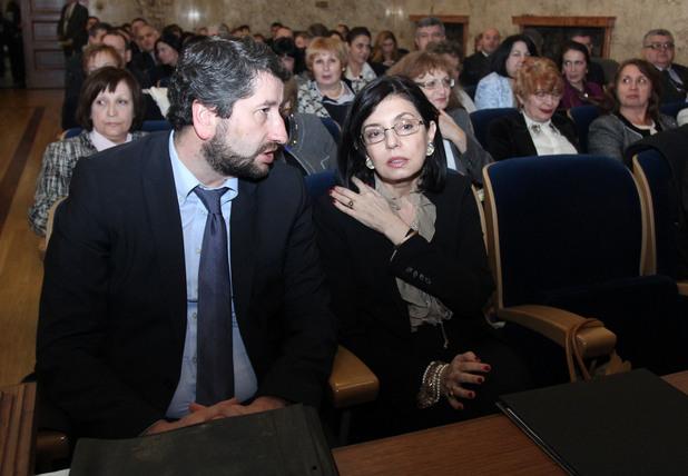 Меглена Кунева и Христо Иванов в Съдебната палата