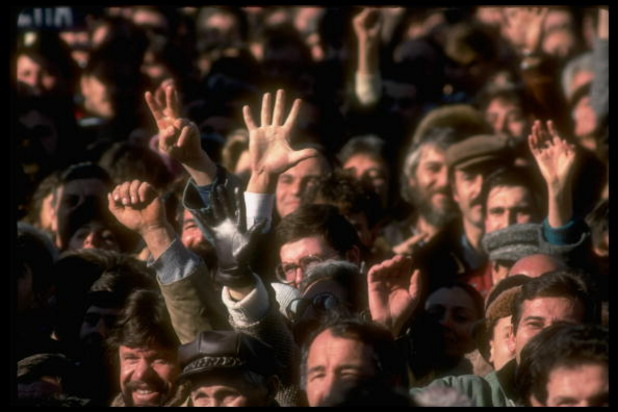 Първият демократичен митинг в БЪлгария на 18 ноември 1989