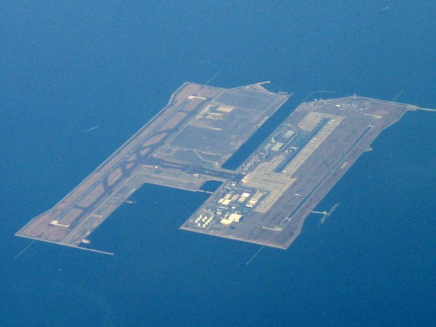 Кенсай, Япония, опасните летища