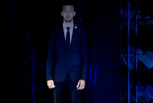 Холограма на Григор Димитров на наградите спортист на годината
