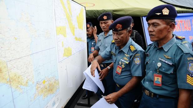 издирвателната мисия по следите на изчезналия самолет на AirAsia