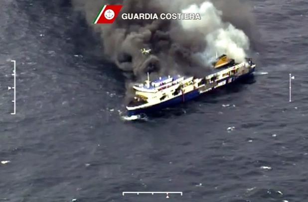 спасителни операции на ферибота norman atlantic