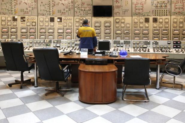 диспечерска зала в атомна централа в украйна