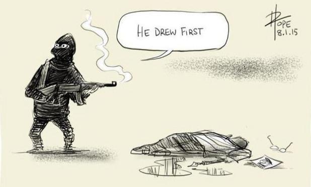 карикатурите в почит на жертвите от атентата в charlie hebdo