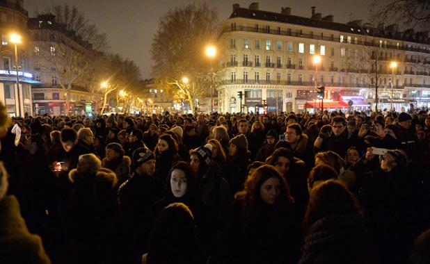 Митингът в Париж