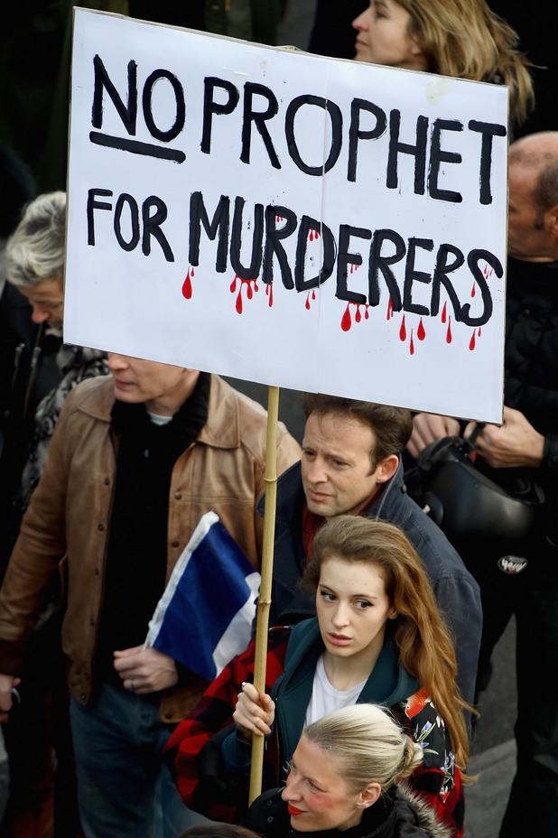 Демократичните демонстрации в Париж - 11 януари