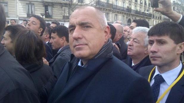 Бойко Борисов на шествието в Париж
