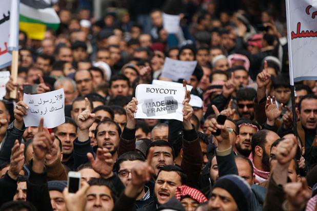протест срещу шарли ебдо в йордания
