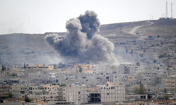 Кюрдският град Кобане, Сирия