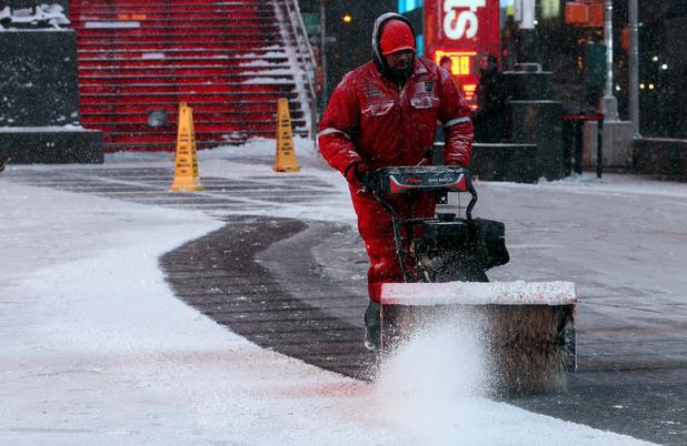 Сняг в Ню Йорк