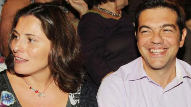 Бети Бациана и Алексис Ципрас
