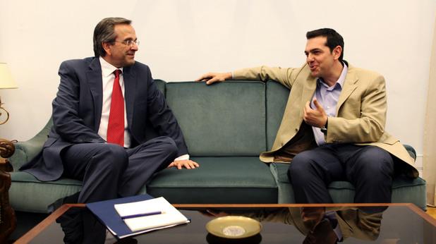 Алексис Ципрас,СИРИЗА, и Андонис Самарас