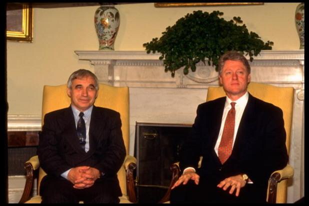 Желю Желев и Бил Клинтън 1995 година