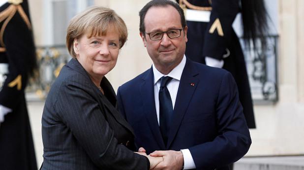 германският канцлер ангела меркел и френският президент франсоа оланд