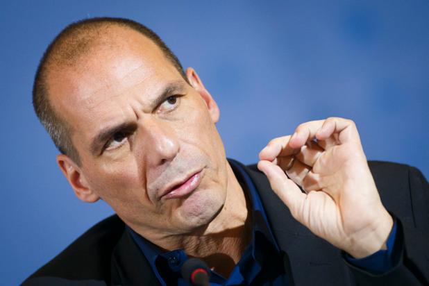 гръцкият финансов министър янис варуфакис след срещата си с германския си колега волфганг шойбле