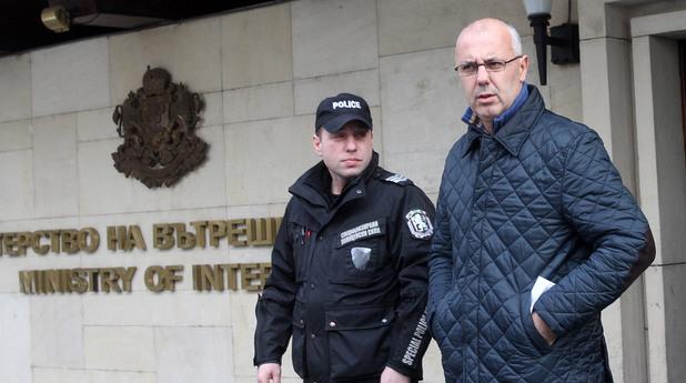 Веселин Вучков пред Министерството на вътрешните работи
