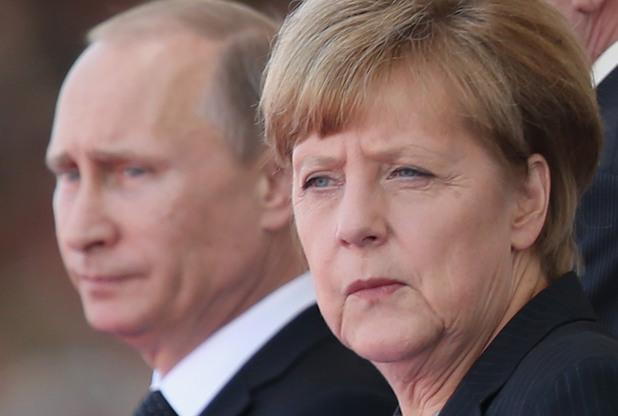 меркел, путин