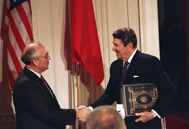 рейгън, горбачов,среща, вашингтон, 1987-ма