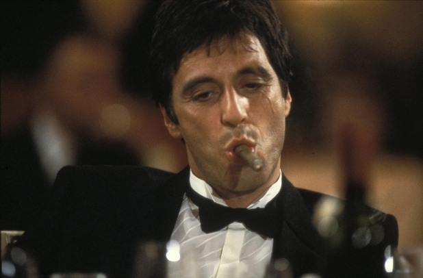 """Ал Пачино в ролята на Тони Монтана,  """"Белязаният"""""""