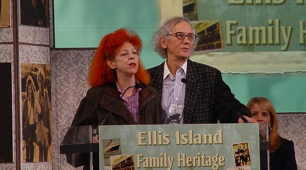 Кристо и съпругата му Жан-Клод