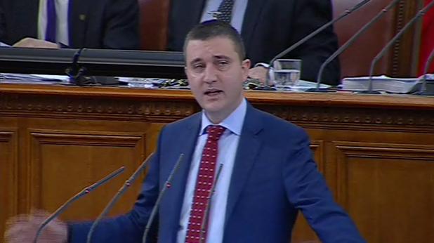 министърът на финансите владислав горанов защитава искането за ратификация на договора за 8 млрд. евро дълг пред парламента