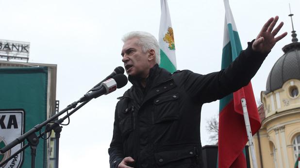Волен Сидеров протестира пред НС