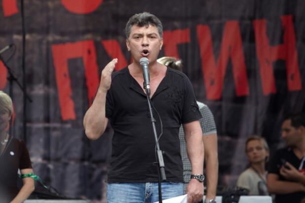 борис немцов на антиправителствен митинг