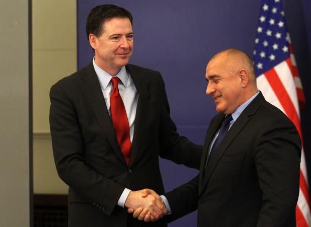 Директорът на ФБР Джеймс Коми се срещна с премиера Бойко Борисов