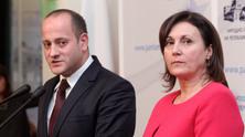 Радан Кънев от РБ и Румяна Бъчварова от преговорния екип на ГЕРБ