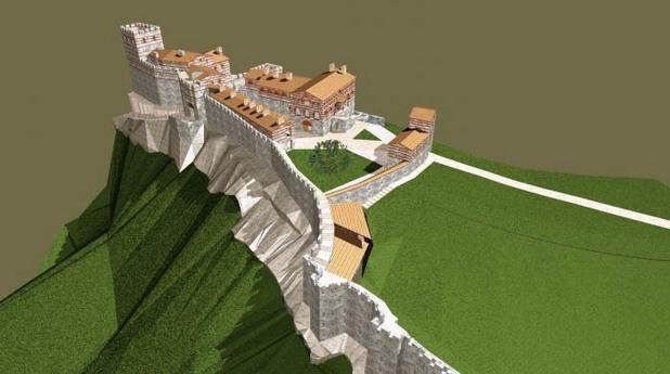 Визуализация на хълма Трапезица във Велико Търново