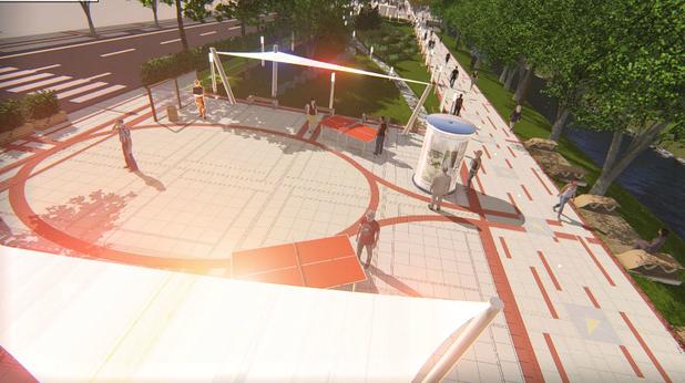 площад тенис, зона 1