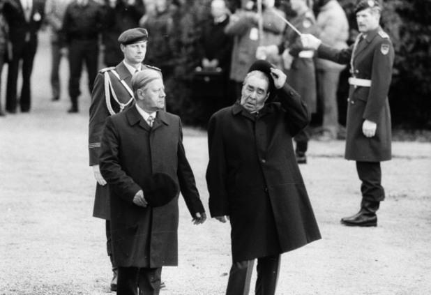 1981 г - леонид брежнев и хелмут шмид