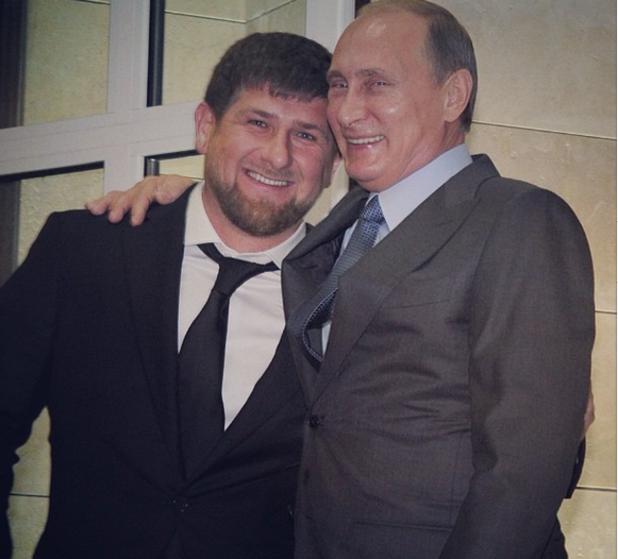 Рамзан Кадиров и Владимир Путин