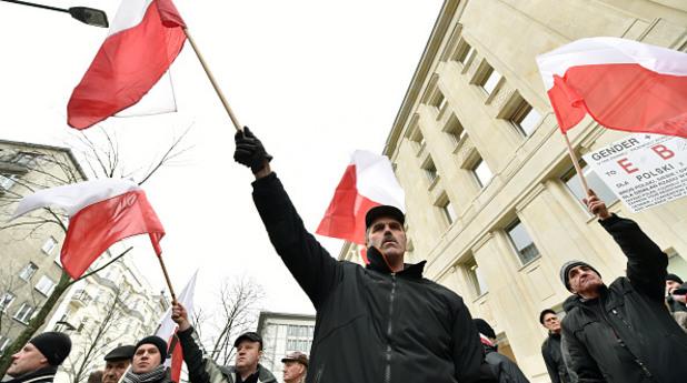 Демонстрация в Полша