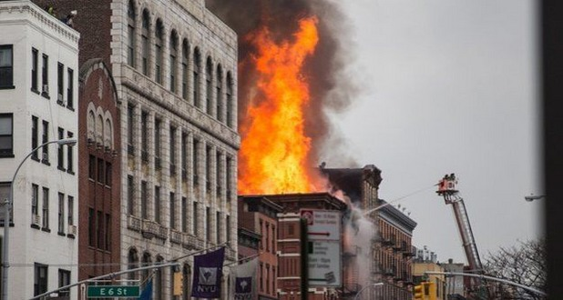 Пожар в Ню Йорк