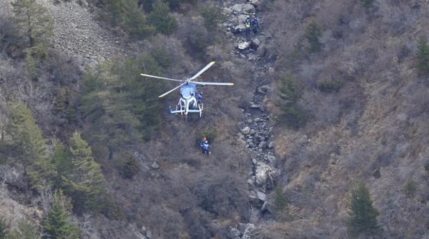 Мястото, на което се разби самолетът на Germanwings