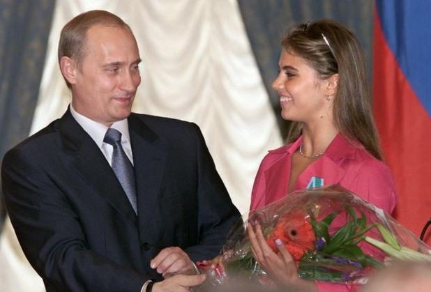 Алина Кабаева и Владимир Путин