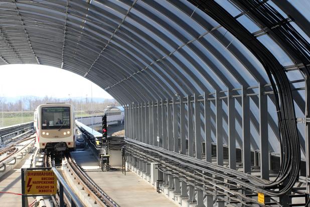 летище софия, метро