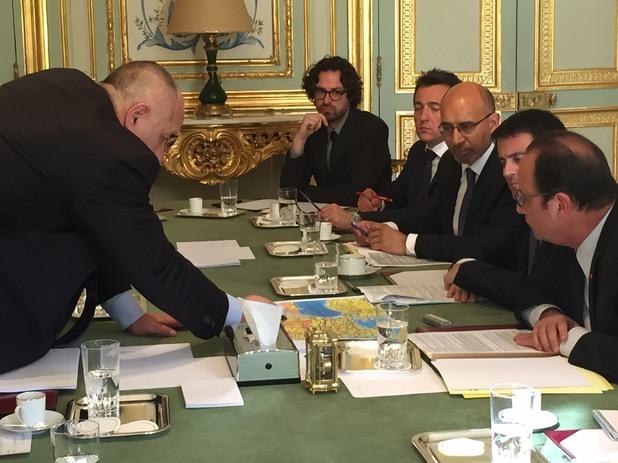 Среща в Париж, Франсоа Оланд, Бойко Борисов