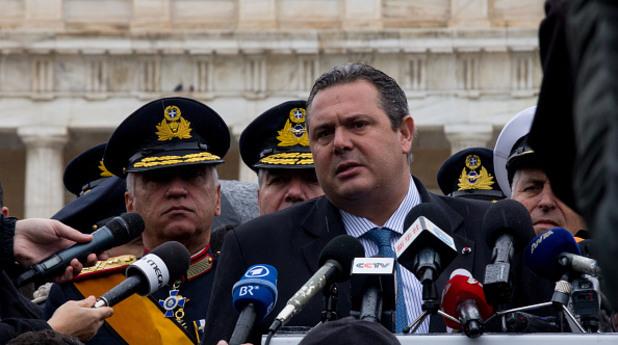 гръцкият министър на отбраната панос каменос