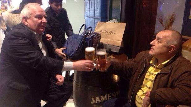бойко борисов пие бира с жозеф дол