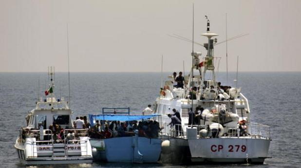 Мигранти в Средиземно море