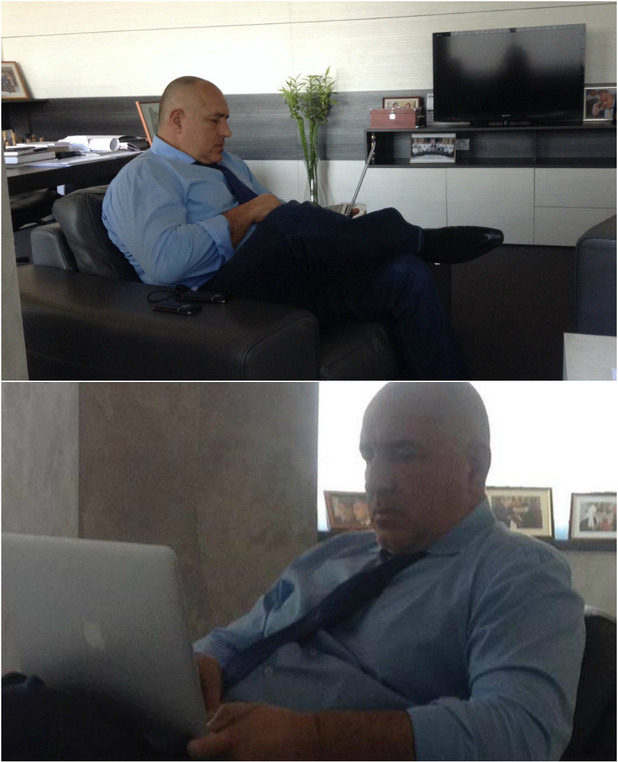 бойко борисов с macbook