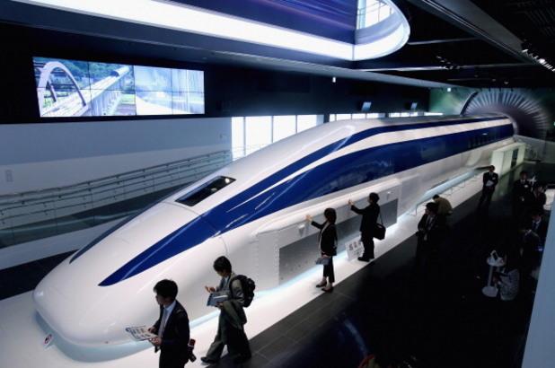 прототипът на японския влак с електромагнитна левитация maglev