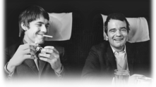 Мениджърите на The Who Кит Ламбърт и Крис СТамп