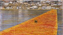 """Инсталация """"Плаващи кейове"""" на Кристо в Италия"""