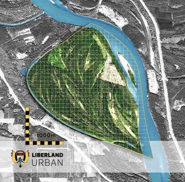 Либерландия на картата