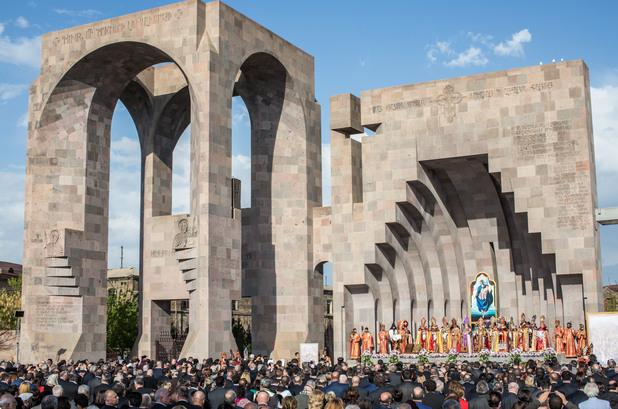 100-годишнина от отбелязването на арменския геноцид в Ереван