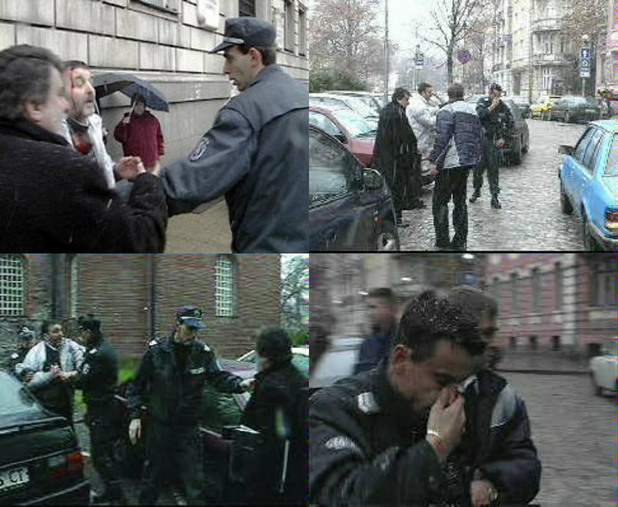 Вежди Рашидов се бие с полицай пред Столична община