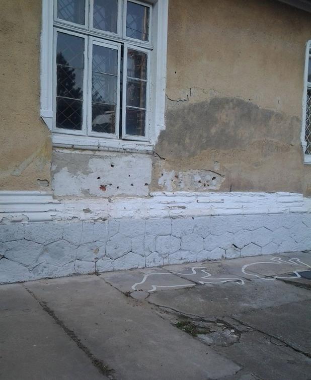 Мястото, на което е убит Николае Чаушеску